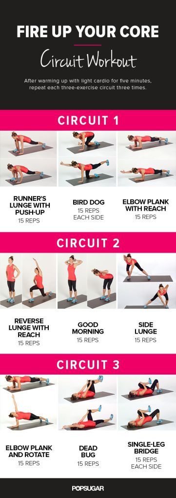 fire up the core circuit workout