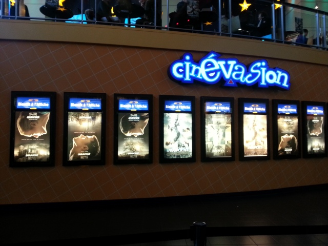 Overload of Insurgent posters at the theatre