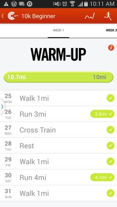 Nike rRunning app