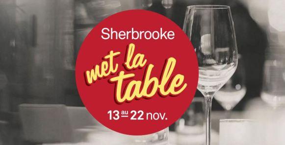 shrebrooke met la table