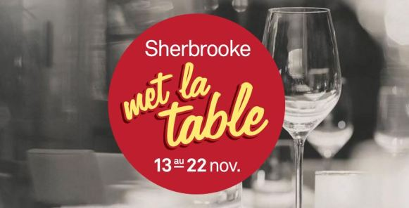 shrebrooke met la table