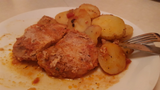 Pork Chops Potato Tomato Sauce