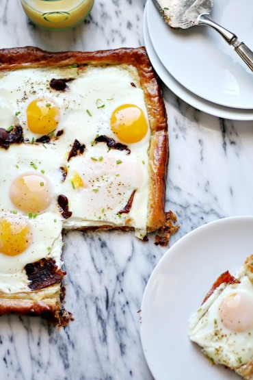 bacon and egg puff pastry