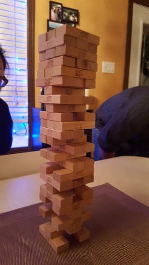 New Year's Eve and Jenga with Friends