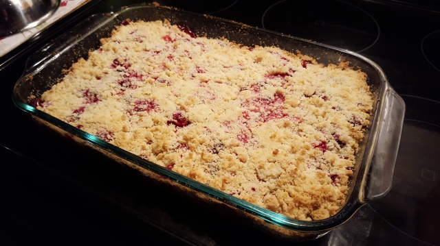 Cherry-Cranberry Crumb Bar