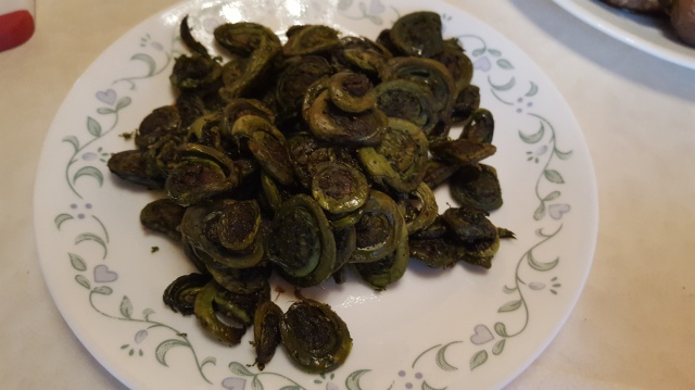 Roasted Fiddlehead