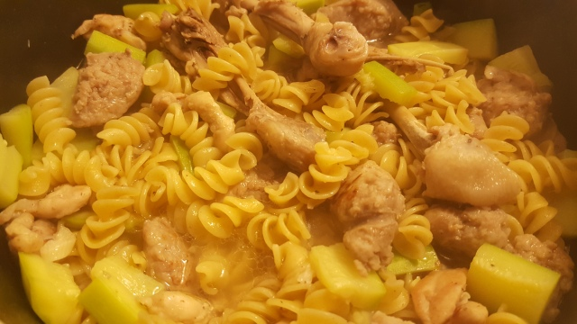 One Pot Chicken and Sausage Pasta