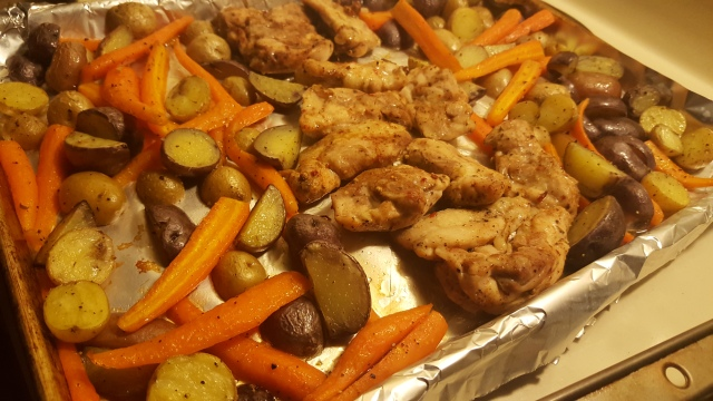 One Pan Chicken and Veggies
