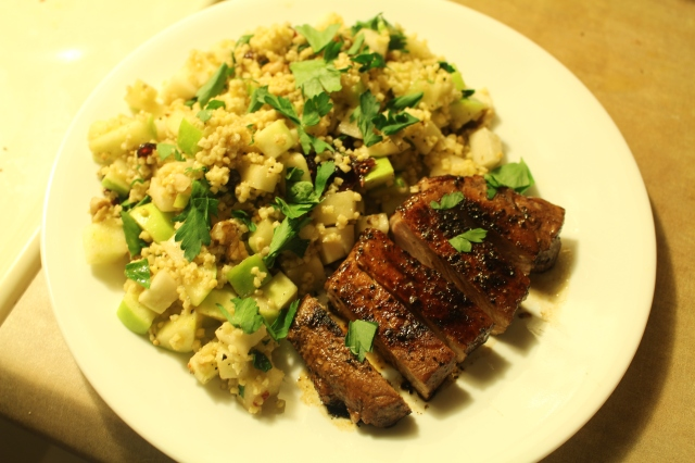 mosto cotto-glazed pork chops