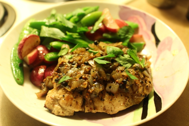 Pork Chops with Pink Peppercorns