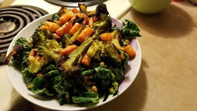 Roasted Nantes Carrots & Broccoli