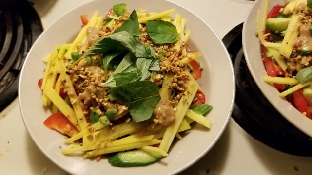 vegetarian spring roll bowl